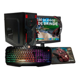 Pc Completo Gamer Imperiums + Monitor + Kit Gamer Para Jogos