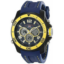 Relogio U.s. Polo Assn.sport Masculino Sport Azul E Amarelo
