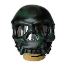 Capacete Caveira Camuflado Verde - Personalizado Fosco