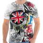 Camiseta Camisa Caveira Bandeira Inglaterra Skull England 04