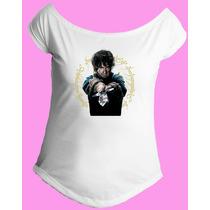 Camiseta Feminina Gola Senhor Sr Anel Aneis Hobbit 07