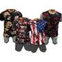 Kit 4 Camisa Masculina Long Line Floral E Estampadas Ofertas
