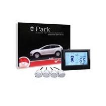 Sensor De Estacionamento Branco Display Numérico 4 Pontos