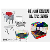 Aluguel Mesas Cadeira De Plastico Brinquedos Zn/zo/centro/zs