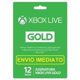 Xbox Live Gold 12 Meses Xbox 360 E Xbox One