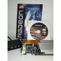Geforce 7100gs 128mb (até 512) 64 Bits D-sub/dvi-i/tv-out/