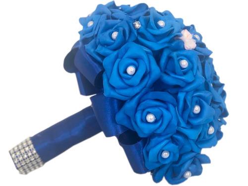 Buquê Para Noivas Flores Casamentos Azul Royal Casamento bacfe340a5b