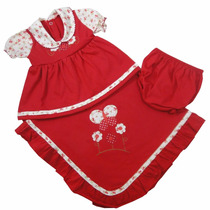 Saída De Maternidade Menina Vestido Recém-nascido + Brinde