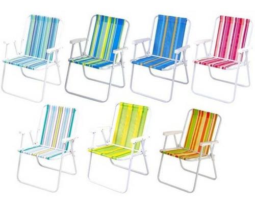 Cadeira De Praia E Piscina Polietileno Aco Ref 2002 Mor