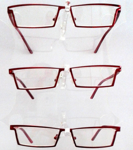 26785e6c4 Armação Óculos Leitura Unissex Vermelho. R$ 18