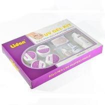Kit Acrigel Lidan12 Itens Manicure Profissional Adesivo Gel