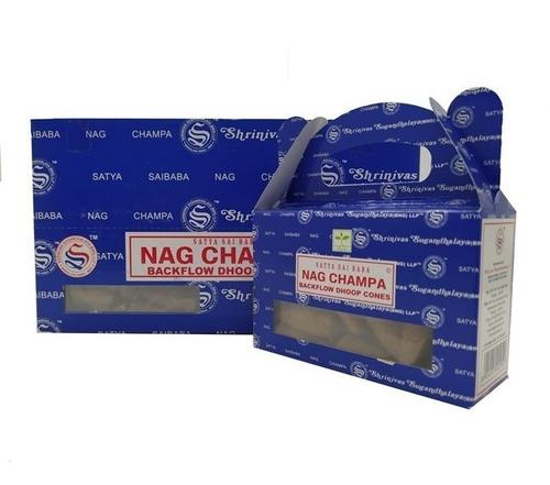 Incenso Nag Champa Satya Sai Baba Cone Cascata 24cone-full