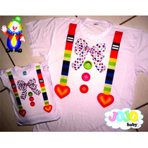 Jojo Baby Tal Mãe Tal Filha Camisa Palhaço Palhacinho Circo