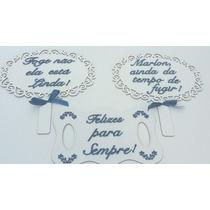 Plaquinha Para Casamento Mdf Branco Kit Com 3 Unidades