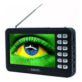 Mini Tv Digital Portátil Hd Tela 4.3 Monitor Usb Sd Rádio Fm
