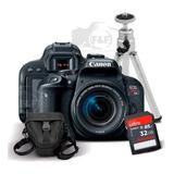 Eos Rebel T7i  + 18-55mm Is Stm + Sd 32gb + Case +tripé +nfe