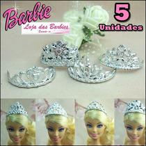 Lote Com 5 Coroa Para Bonecas Barbie / Princesas / Disney