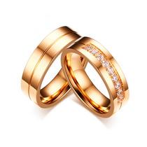 Aliança Para Casamento Grossa Reta Com Pedras Anatômica Ouro