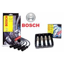 Kit Cabos E Velas Bosch Fox Gol G5 Voyage 1.0 8v Total Flex