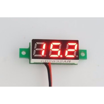 Mini Voltímetro Led Digital - Medidor Bateria - Mais Barato