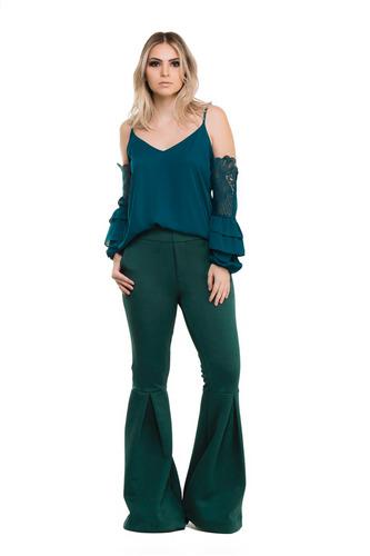 8129c7742b Conjunto Kímika Coleção Brave Calça E Blusa Lisa Verde.