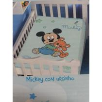 Manta Cobertor Jolitex Disney Mickey Bebe 0,80x1,10