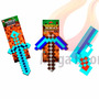 Kit Original Minecraft Diamante - Espada Picareta Pistola