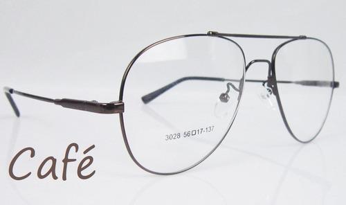 9ed650159 2 X Armações Aviador P/ Óculos De Grau Em Titânio Memory à venda em ...