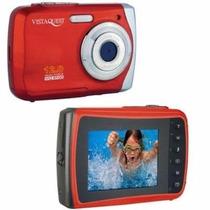 Câmera Fotográfica Digital Vista Quest 12mp Prova D