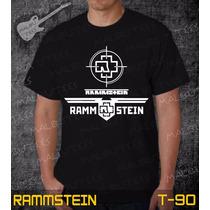 Camisetas Rammstein Rock Roll Bandas Preta Iron Maiden