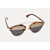 Óculos De Sol Christian Dior So Real Dourado Lançamento