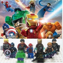 Vingadores Marvel Dc Heroes Avengers Kit 9 Bonecos = Lego