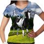 Camiseta Cavalo Pampa Preto Feminina