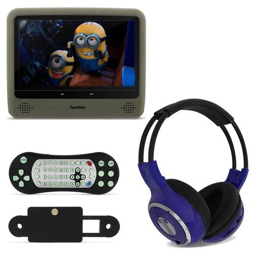 Tela Monitor Portátil Lcd 9 Dvd Usb Sd + Fone Ouvido S / Fio