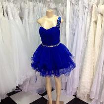 Vestido Noiva Debutante Curto Azul Bic Novo Pronta Entrega