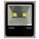 Holofote Refletor Super Led Duplo 100w Bivolt - Bco Frio