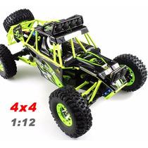 Carro Wltoys 12428 Off-road 4x4 C/ Led Rock Crawler Rc Contr