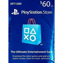 Card Psn Playstation Network Card $60 Dólares