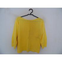 Blusa Feminina Amarela Tricot Manguinhas Cód. 663