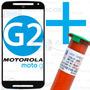 Tela Vidro Lente Moto-g 2 G2 + Cola Uv + Fio Aço + Removedor