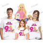 Lembrança De Aniversario Barbie Boneca Camiseta Kit Com 3
