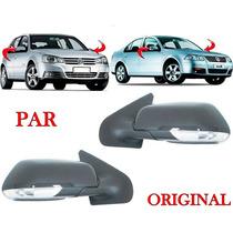 Par Retrovisor Golf / Bora Com Pisca 1999 A 2011 Original