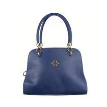 Bolsa De Couro Azul Marinho Capodarte - Original