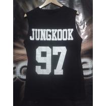 Camiseta Regata K-pop Bts Jungkook 97 / Exo Got7 Bap Suju B4