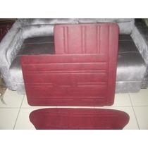 Forro De Porta Fusca 78 A 96 Vermelho Turin Modelo Original