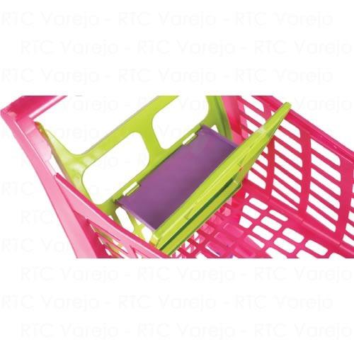 784e85e4d5 Carrinho De Compras Infantil Supermercado Rosa Frete Grátis. Preço  R  129  Veja MercadoLibre