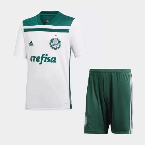 Uniforme Infantil Camisa Shorts Time Futebol Palmeiras 2018 - R  150 ... 85a51a5d10722
