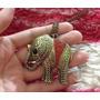 Colar Pingente Feminino Vintage Elefante Pedra Indiano Luxo