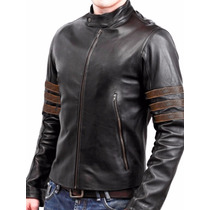 Jaqueta Masculina Wolverine X-men Black Slin Fit
