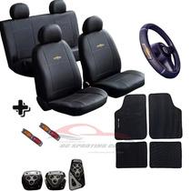 Kit Capa Couro Bancos Tapete Pedaleira Chevrolet Promoção